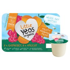 Little Yeos Raspberry Apricot Fromage Frais 6 X45g