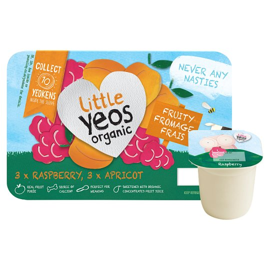 image 1 of Little Yeos Raspberry Apricot Fromage Frais 6 X45g