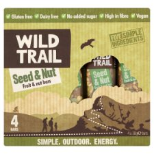 Wild Trail Raw Fruit And Nut Seed And Nut 4X30g