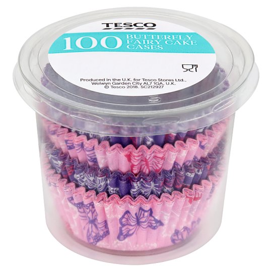 Tesco 100 Butterfly Fairy Cake Cases