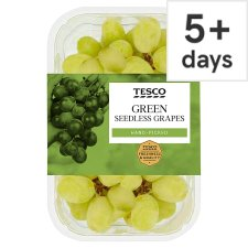 image 1 of Tesco Green Seedless Grapes Pack 500G