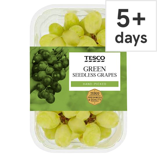 Tesco Green Seedless Grapes Pack 500G