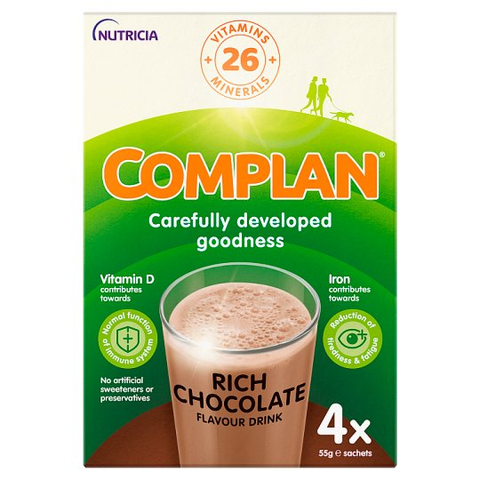 Complan Nutritional Drink Chocolate 55G X 4