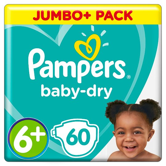 image 1 of Pampers Baby Size 6+ Jmb+ Pack 60 Nappies