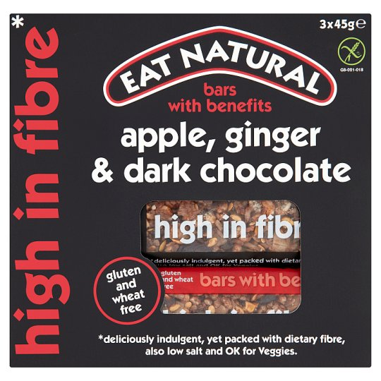 Eat Natural Bars Apple, Ginger And Dark Chocolate 3 X 45G