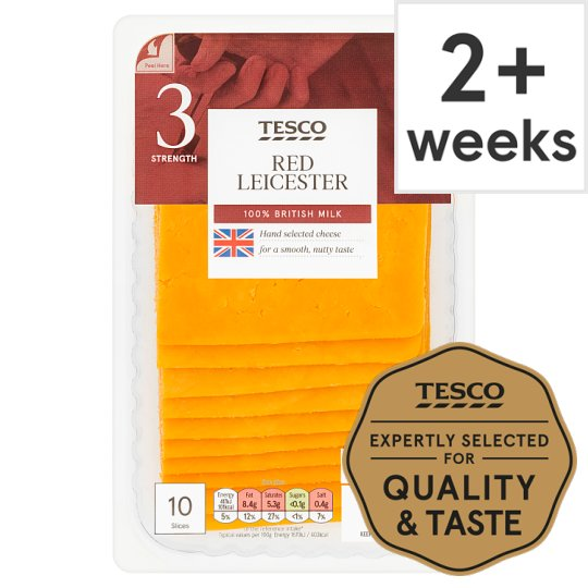 Tesco 10 Red Leicester Slices 250G