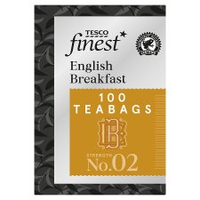 Tesco Finest English Breakfast 100 Tea Bags 250G