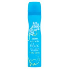 Tesco Extracts Female Bodyspray Blue 75Ml