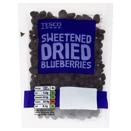 image 1 of Tesco Dried Blueberries 100G