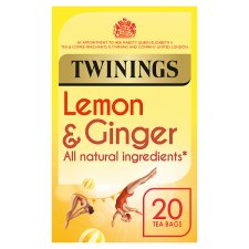 Twinings Lemon And Ginger 20 Teabags 30G