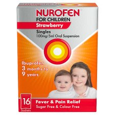 Nurofen For Children 100Mg Strawberry 16X5ml
