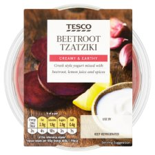 Tesco Beetroot Tzatziki Dip 182G