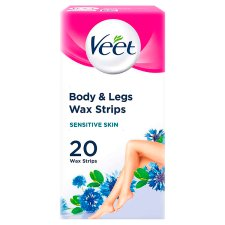 Veet Ready To Use Wax Strips Sensitive 20'S