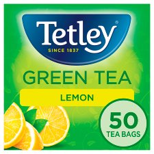 Tetley Green Tea Lemon 50 Tea Bags 100G
