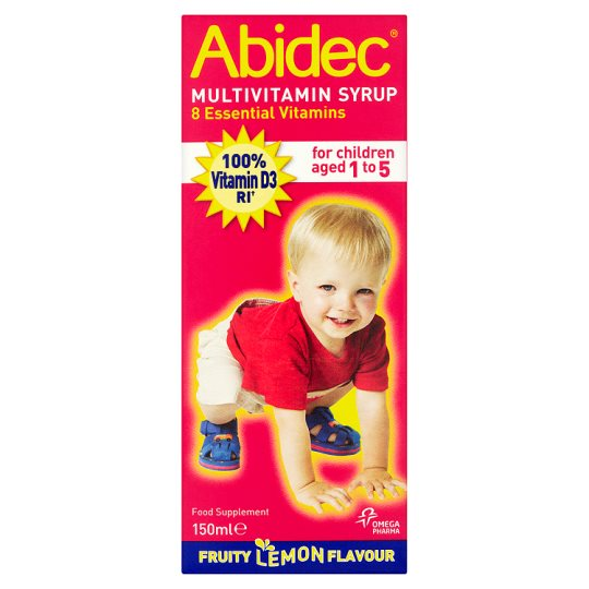 Abidec Multi Vitamins Syrup And Omega 3 150Ml
