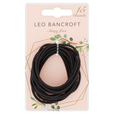 Leo Bancroft Snagfree Bands Black 15 Pack