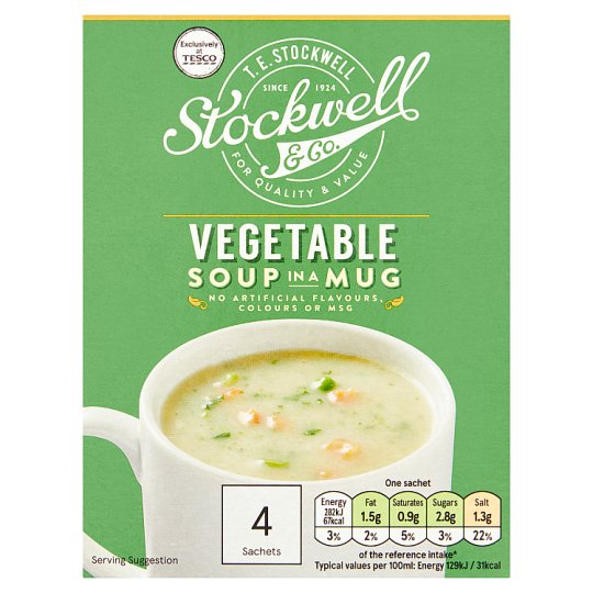 Stockwell And Co Vegetable Soup In A Mug 4 Pack 72G