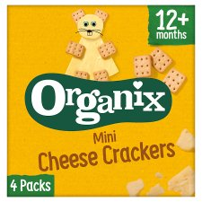 Organix Goodies Mini Cheese Cracker 4 X 20G