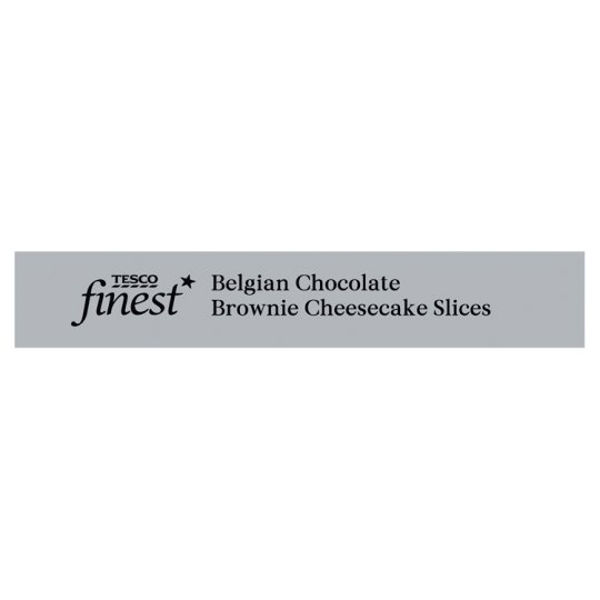 Tesco Finest 2 Chocolate Brownie Cheesecake Slices 180G