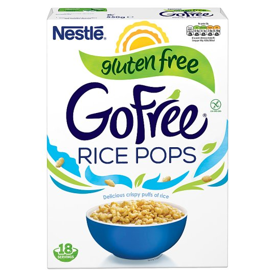 image 1 of Nestle Gofree Rice Pops Gluten Free Cereal 550G
