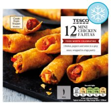 Tesco 12 Mini Chicken Fajitas 240G