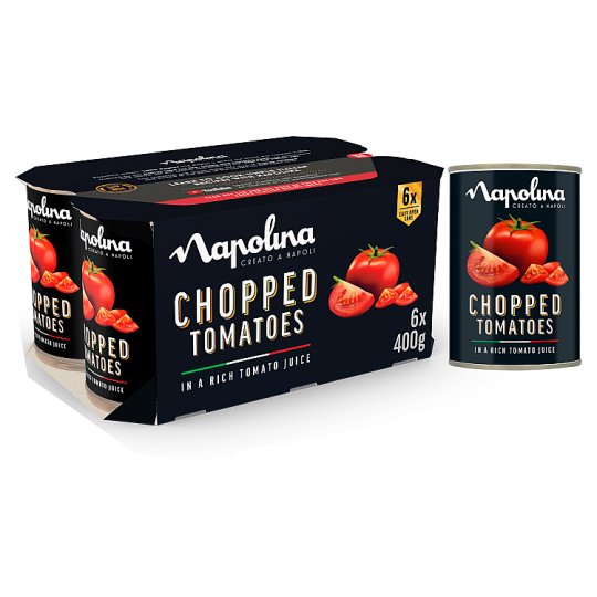 image 1 of Napolina Chopped Tomatoes 6 X400g
