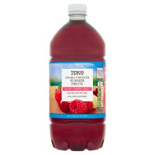 Tesco Double Strength Summerfruits Squash No Added Sugar 1.5L