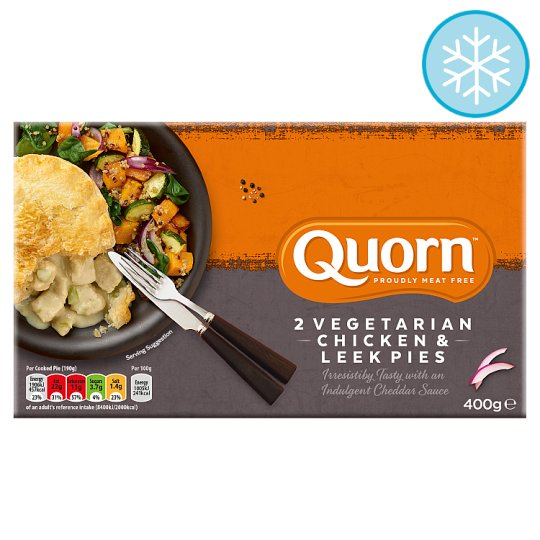 Quorn 2 Chicken And Leek Pies 400G