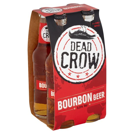 Dead Crow Bourbon Flavoured Beer 4X330ml