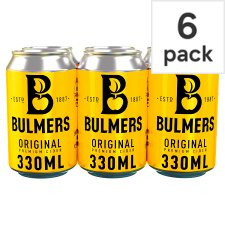 Bulmers Original Apple Cider 6X330ml Can
