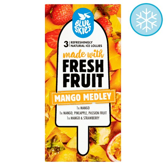 Blue Skies Mango Medley Lollies 3X70ml