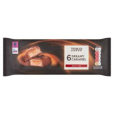 Tesco Dreamy Caramel Bars 6 X 40G