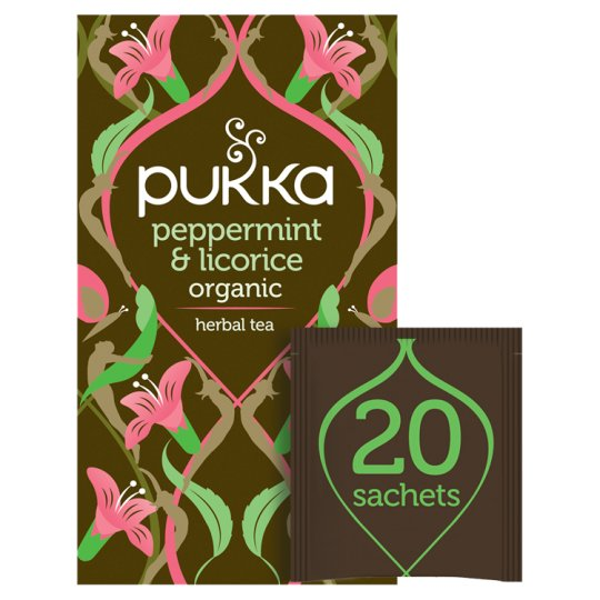 Pukka Organic Peppermint Licorice 20 Tea Bags 30G