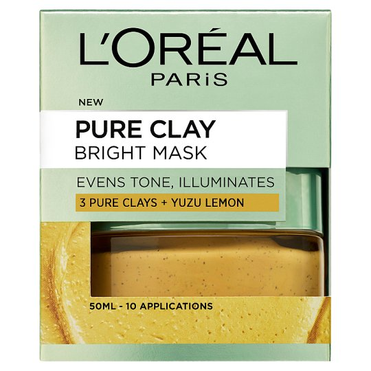 image 1 of L'oreal Paris Pure Clay Bright Face Mask 50Ml