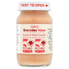 Tesco Everyday Value Ham And Beef Paste 75G