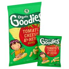 Organix Goodies Tomato Cheese And Herb Puffs 4X15g