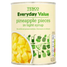 Tesco Everyday Value Pineapple Pieces Light Syrup 540G