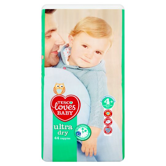 Tesco Loves Baby Ultra Dry Size 4+ Economy Pack 44