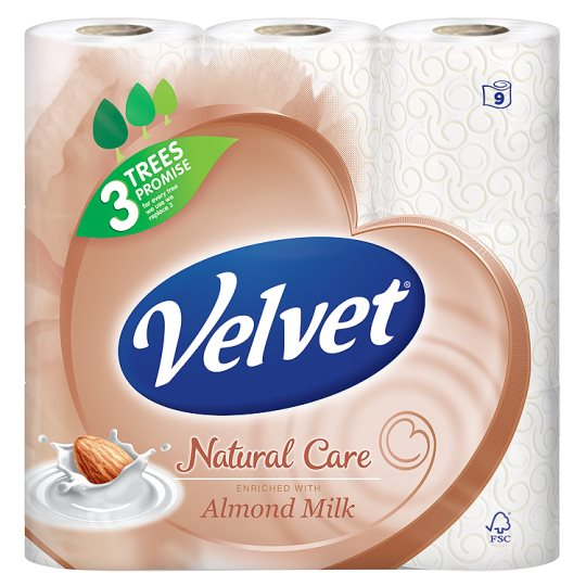 Velvet Toilet Tissue 9 Roll Lotioned