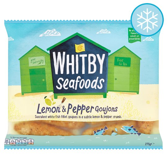 Whitby Lemon And Pepper Fillet Goujons 275G