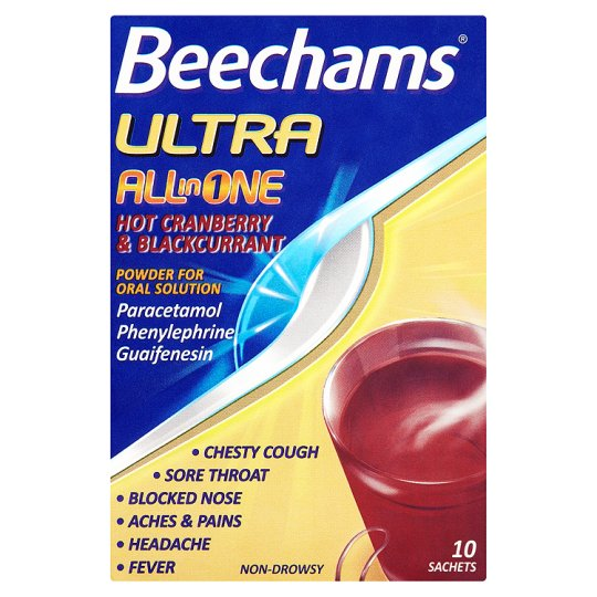 Beechams Ultra Hot Cranberry And Blackcurrant 10S