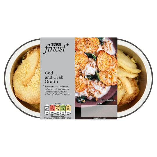 Tesco Finest Cod And Crab Gratin 400G