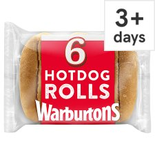 Warburtons Hot Dog Rolls 6 Pack