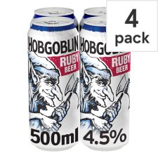 Hobgoblin Ruby Cans 4X500ml