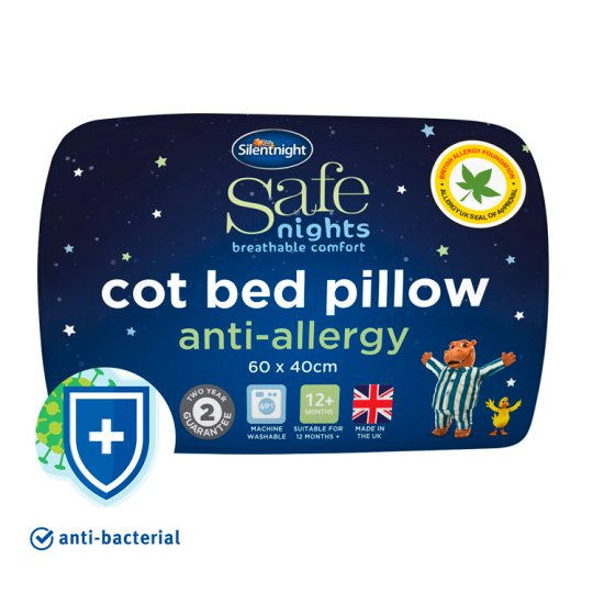 Silent Night Anti-Allergy Cotbed Pillow