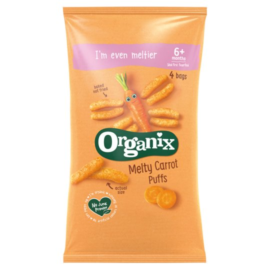 Organix Melty Carrot Puffs Multipack 4X18g
