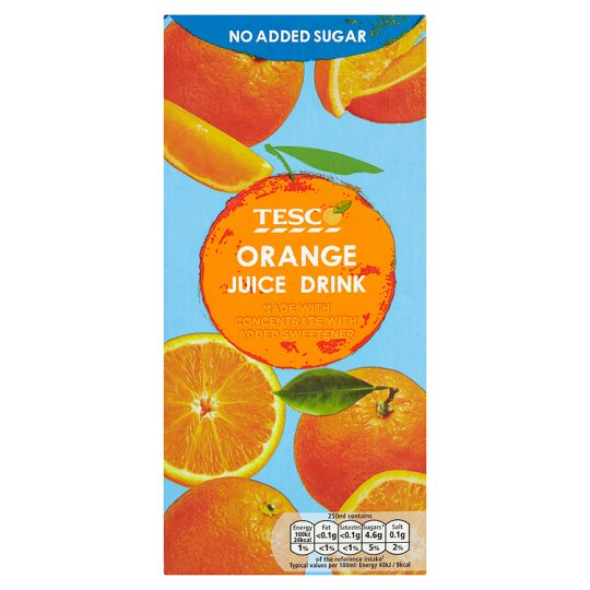 Tesco No Added Sugar Orange Juice Drink 1L