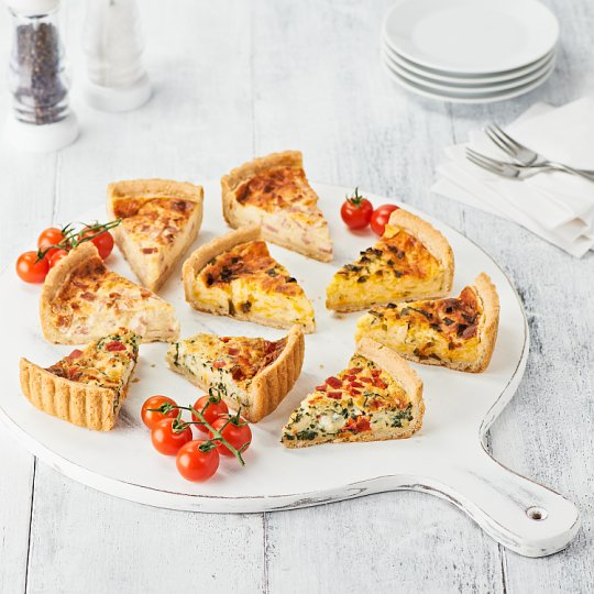 image 1 of Tesco Easy Entertaining Quiche Selection 1.Kg Serves 8