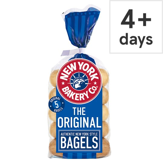 New York Bakery Plain Bagels 5 Pack