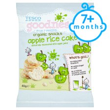 Tesco Goodness Apple Rice Cake 40G